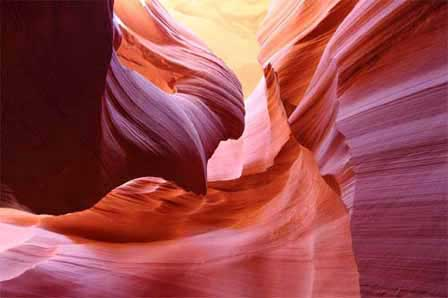 Picture of Antelope Canyon on the Navajo Indian Reservation