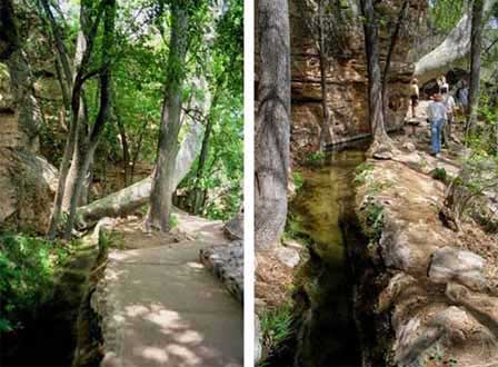Pictures of pathway to Montezuma Well