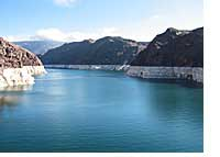 Lake Mead In The Narrows At Boulder Dam